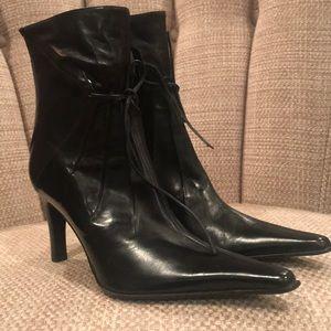 Via spiga ankle black Leather boots